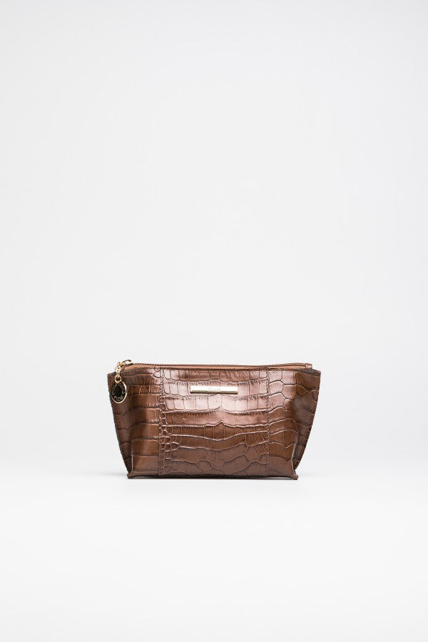 Brown Cosmetic Case - Mona Collection