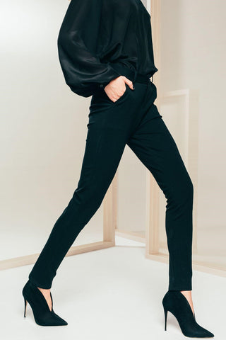 Black Cigarette Trousers - Mona Collection