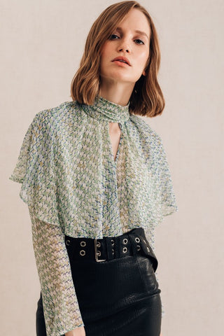 Star Ruffle Blouse
