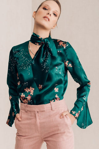 Floral Emerald Blouse