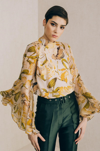 Canary Bell Sleeve Blouse - Mona Collection