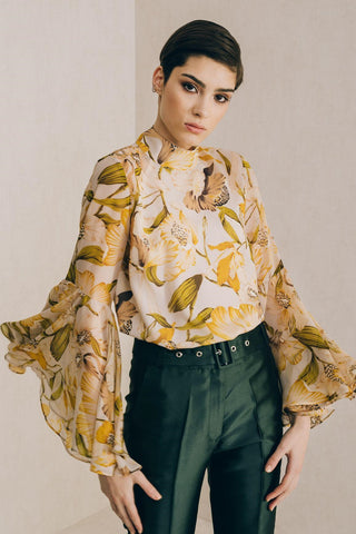 Canary Bell Sleeve Blouse