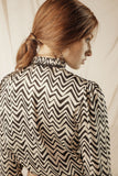 Blouse With a Pleated Collar - Mona
