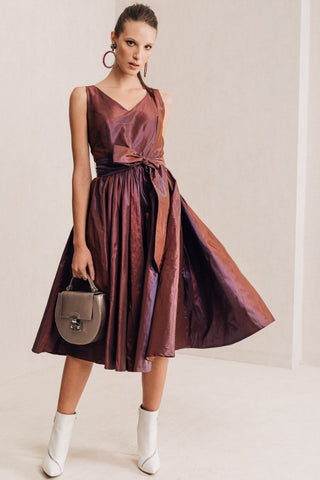 Copper Taffeta Dress
