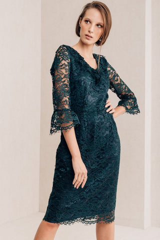 Navy Lace Dress - Mona Collection