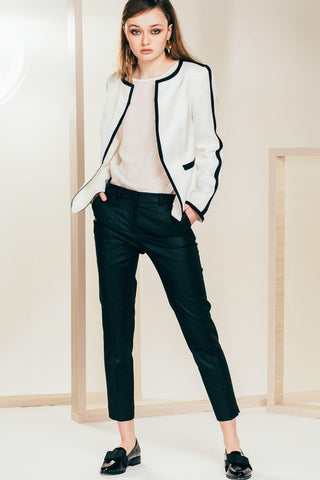White Track Blazer - Mona Collection