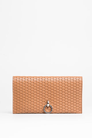 Woven Tan Wallet - Mona Collection