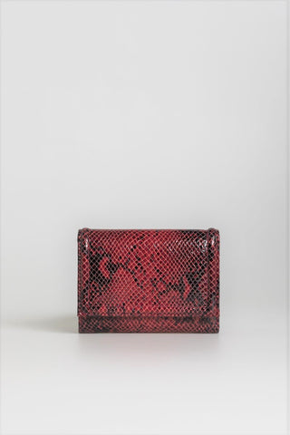 Bordeaux Red Croc Wallet - Mona Collection