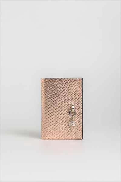 Rose Gold Snakeskin Wallet