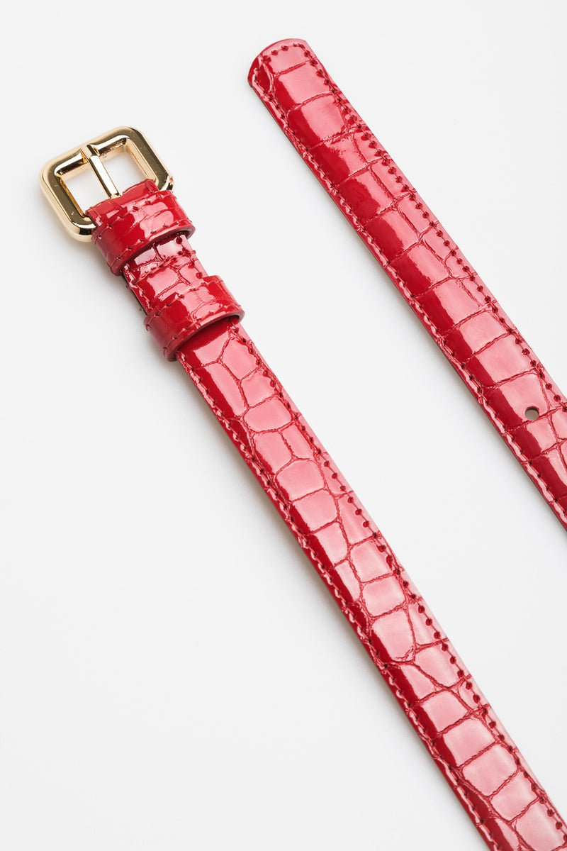 Red Croc Belt - Mona Collection