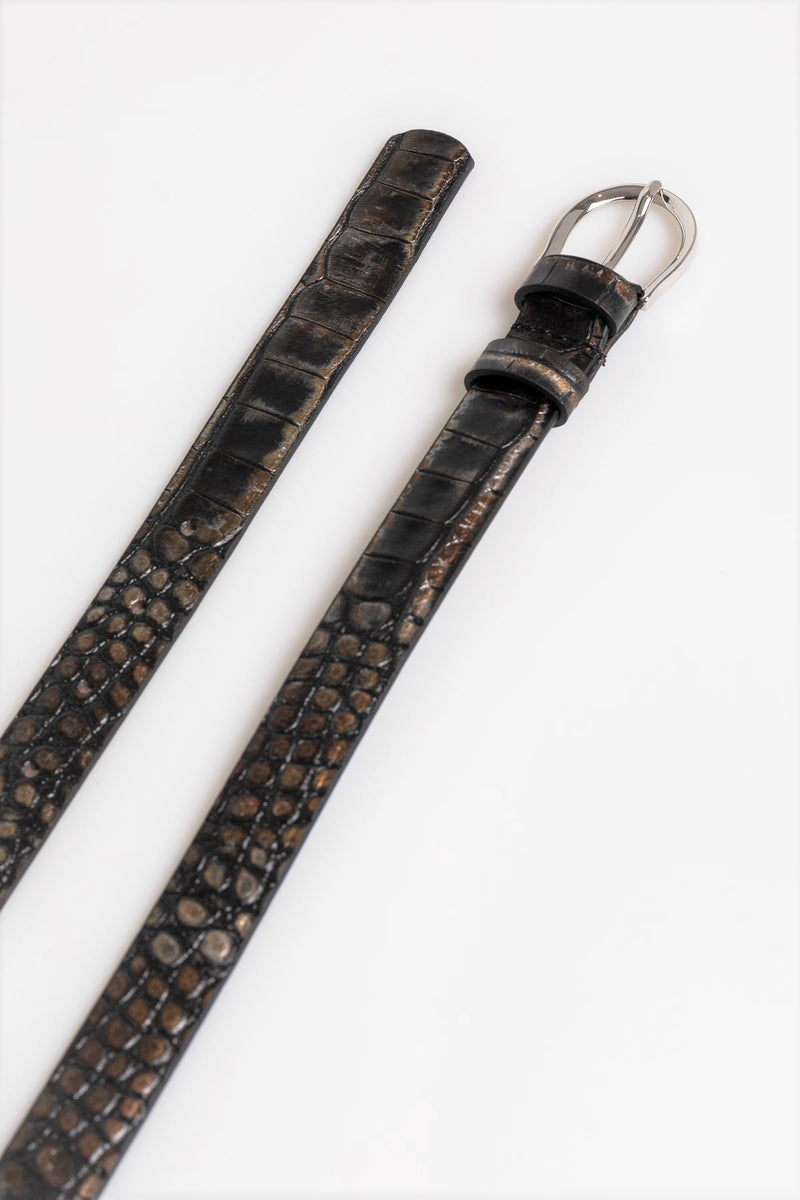 Brown Croc Belt - Mona Collection