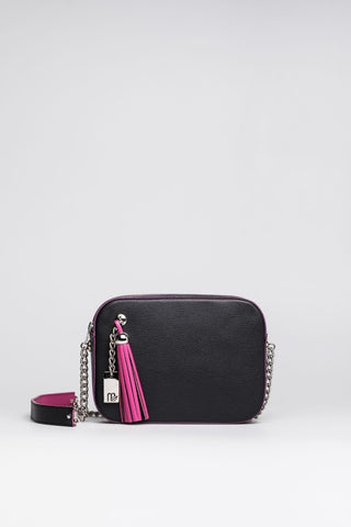 Pink Tassel Cross Body Bag