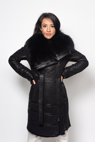 Shearling/Racoon fur coat