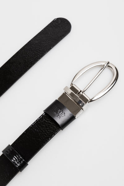 Leather double side Belt /black - Mona