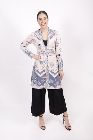 Long Floral Cardigan - Ivko Women