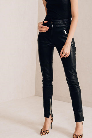 Black leather pants - Mona Collection