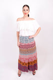 Loose Stitch Long Skirt c/v - Ivko Women