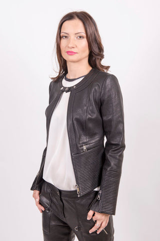 Jacket with Round Neckline - Mona Collection