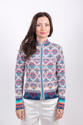Jacquard Jacket - Ivko Women