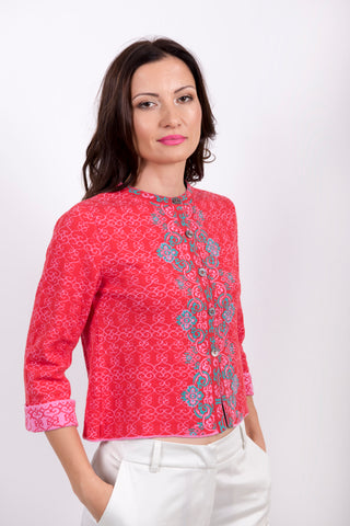 Jacquard 3/4  Jacket - Ivko Woman