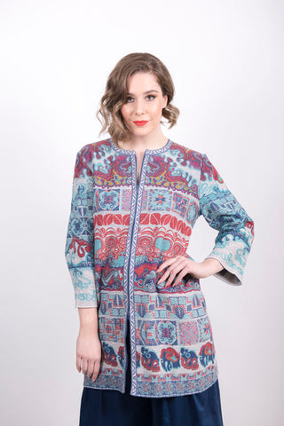 Printed Coat /s - Ivko Women