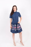 Dress, Floral Embroidery c