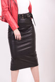 Midi Leather Skirt