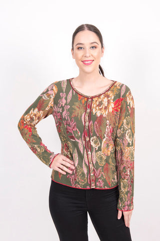 Cardigan, Forest Motifs - Ivko Women