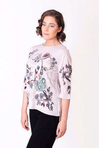 Pullover, Floral Print - Ivko Women