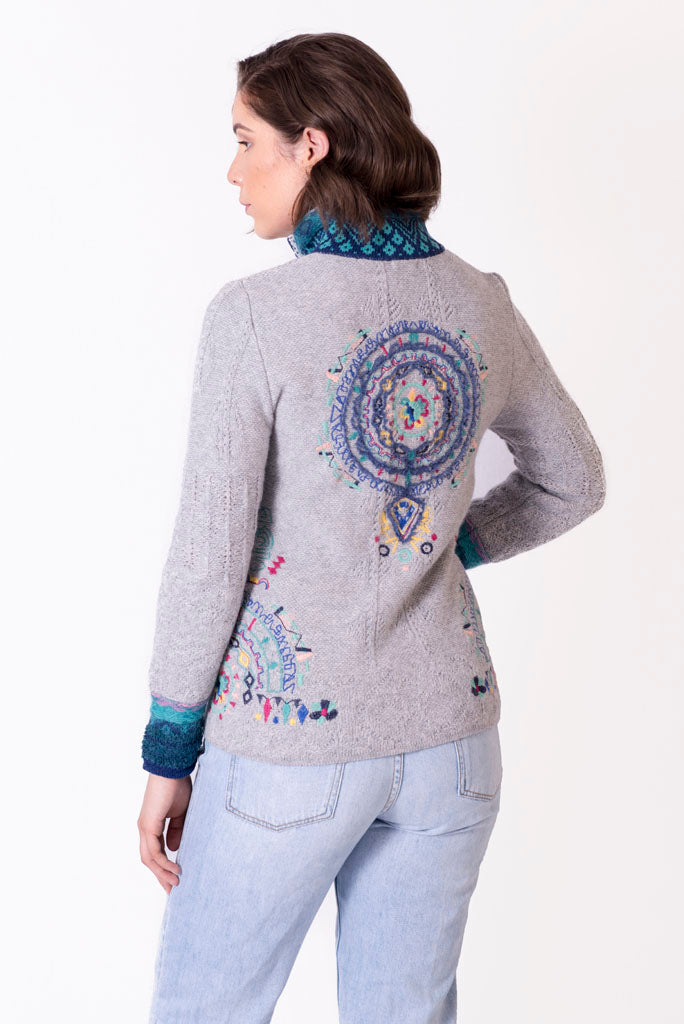 Woolen Jacket with Embroidery