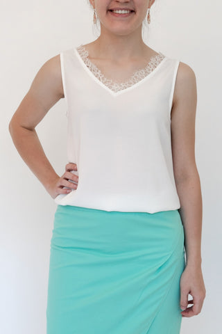 V-Neck Top With Straps