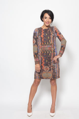 Dress, Geometric Print - Ivko Women