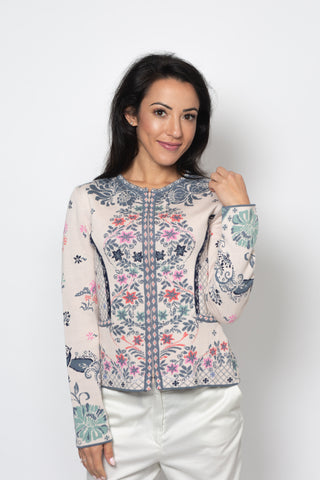 Cardigan, Floral Cage