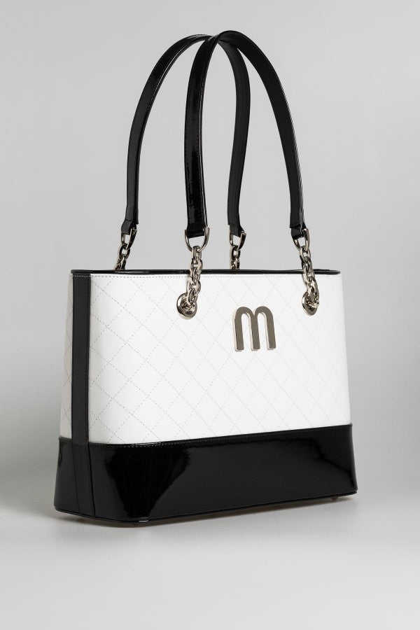 Black and White Tote - Mona Collection