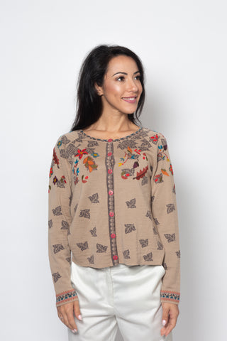 Jacket with Embroidery, Forest Motifs