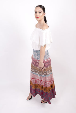 Loose Stitch Long Skirt c/v