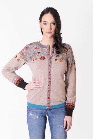 Cardigan, Autumn Forest Motifs