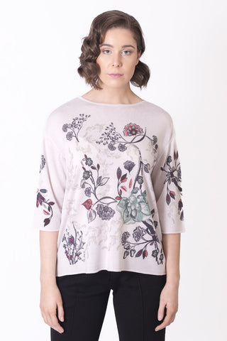 Pullover, Floral Print