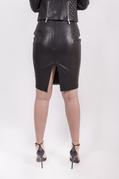 High waist leather skirt - Mona Collection