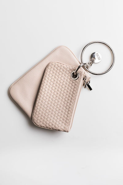 Twin Beige Clutch