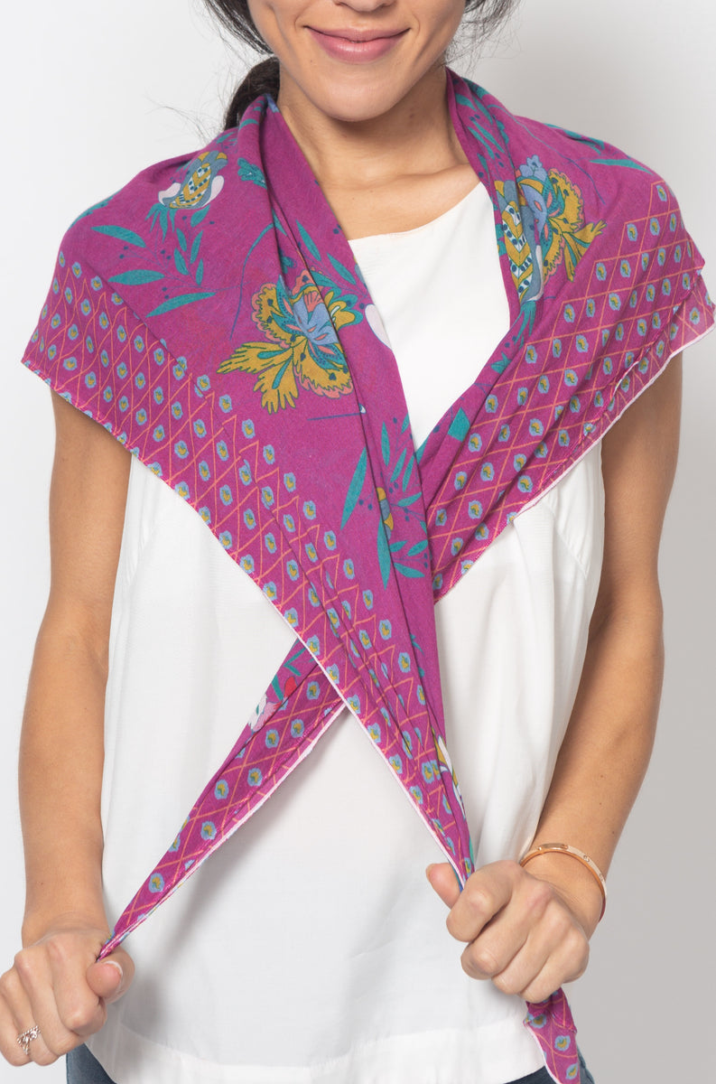 Shawl with Print s - Ivko Women
