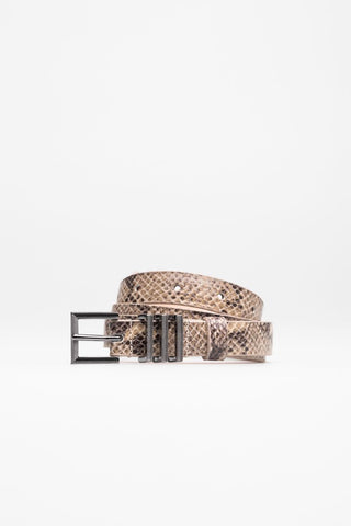 Belt crafted from snakeskin