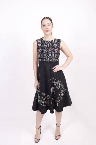 Dress, Floral Embroidery ws
