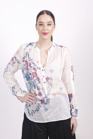 Tunic, Floral Print s/c