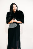 Black Fox Fur Wrap