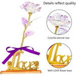 24K Colorful Gold Galaxy Rose - Valentine Special