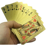 24K Gold-Plated Playing Cards