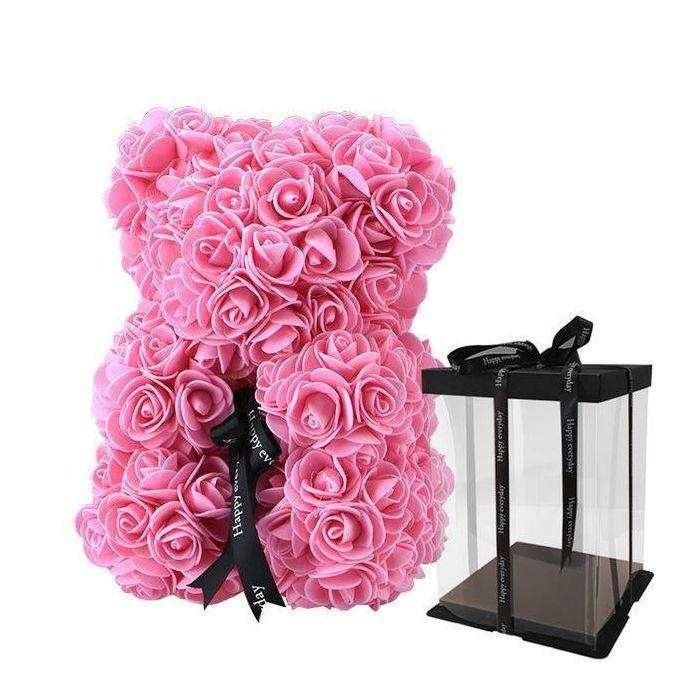 Rose Teddy Bear With FREE Box - Valentine Special