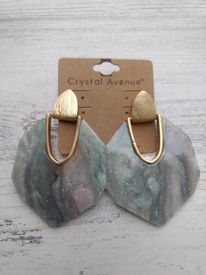 HEXAGON ARCH ACRYLIC EARRINGS