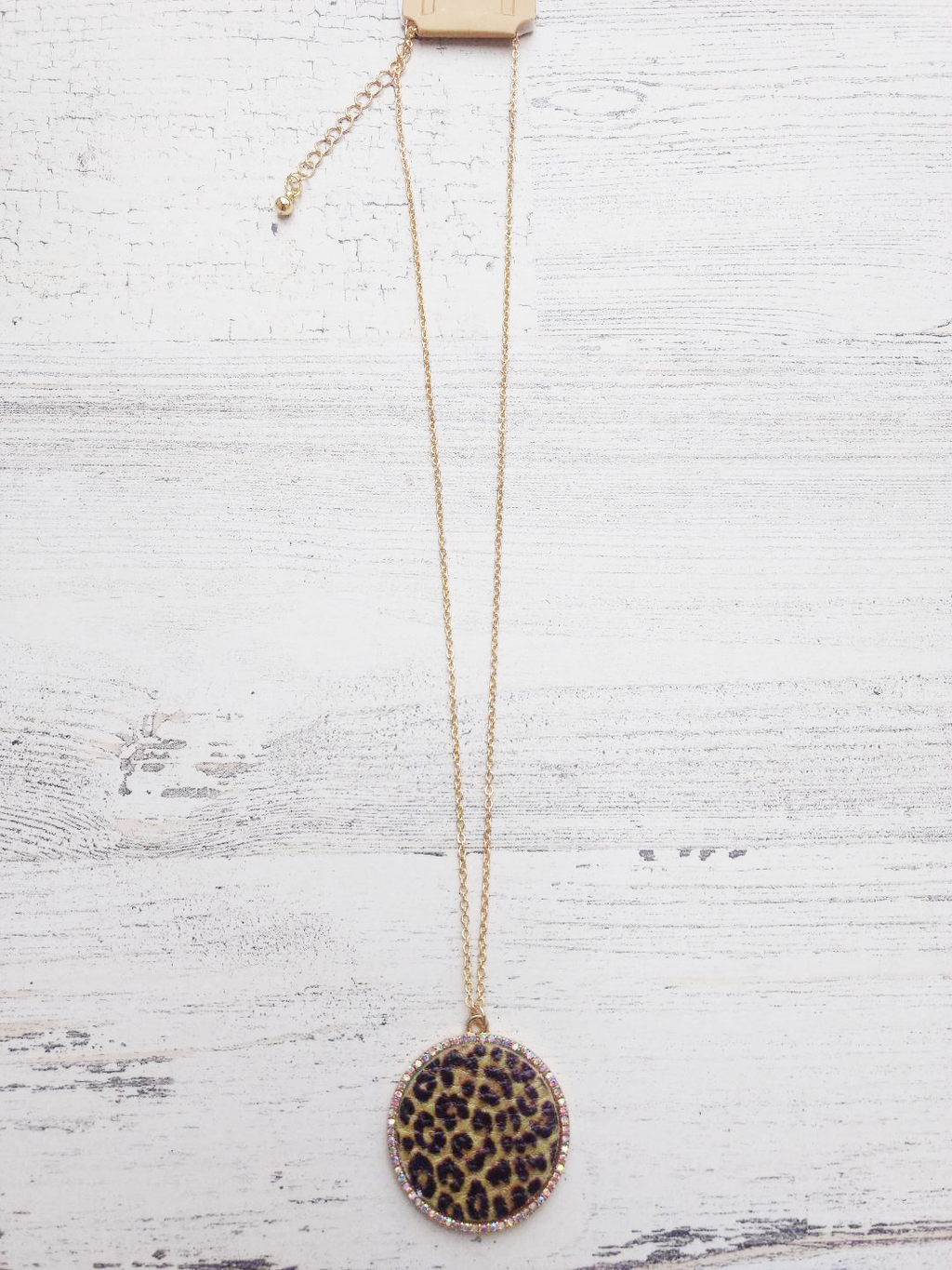 LEOPARD LEATHER NECKLACE